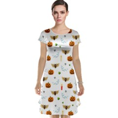 Halloween Pattern Cap Sleeve Nightdress