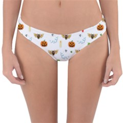 Halloween Pattern Reversible Hipster Bikini Bottoms
