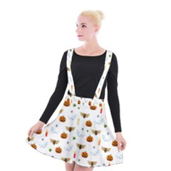 Halloween Pattern Suspender Skater Skirt
