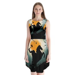 Headless Horseman Sleeveless Chiffon Dress