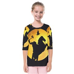 Headless Horseman Kids  Quarter Sleeve Raglan Tee