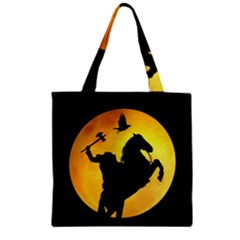 Headless Horseman Zipper Grocery Tote Bag
