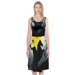 Headless Horseman Midi Sleeveless Dress