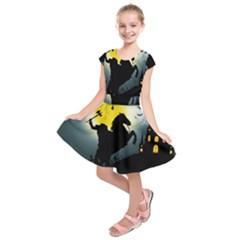Headless Horseman Kids  Short Sleeve Dress