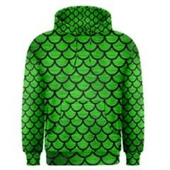 Scales1 Black Marble & Green Brushed Metal (r) Men s Pullover Hoodie