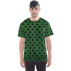 Scales2 Black Marble & Green Brushed Metal Men s Sports Mesh Tee
