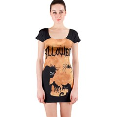 Halloween Short Sleeve Bodycon Dress