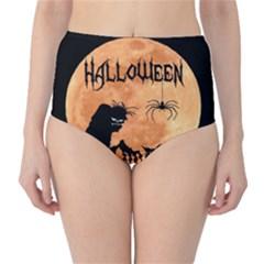 Halloween High Waist Bikini Bottoms