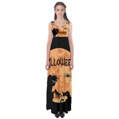 Halloween Empire Waist Maxi Dress