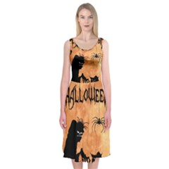 Halloween Midi Sleeveless Dress