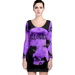 Halloween Long Sleeve Bodycon Dress