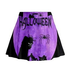 Halloween Mini Flare Skirt
