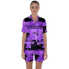 Halloween Satin Short Sleeve Pyjamas Set