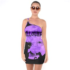 Halloween One Soulder Bodycon Dress