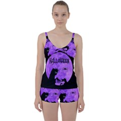 Halloween Tie Front Two Piece Tankini