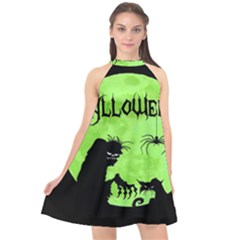 Halloween Halter Neckline Chiffon Dress