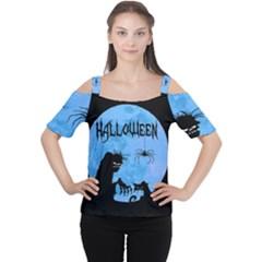 Halloween Cutout Shoulder Tee