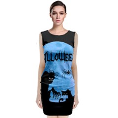 Halloween Sleeveless Velvet Midi Dress
