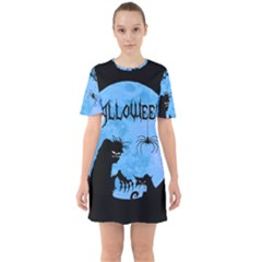 Halloween Sixties Short Sleeve Mini Dress
