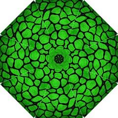 Skin1 Black Marble & Green Brushed Metal Hook Handle Umbrellas (small)