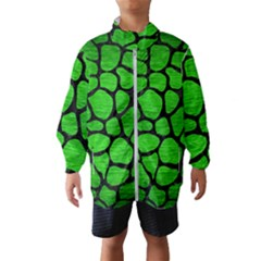 Skin1 Black Marble & Green Brushed Metal Wind Breaker (kids)