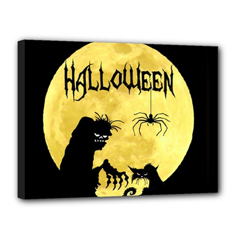 Halloween Canvas 16  X 12