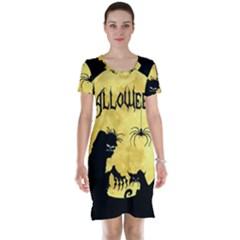Halloween Short Sleeve Nightdress