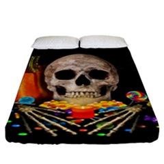 Halloween Candy Keeper Fitted Sheet (king Size)