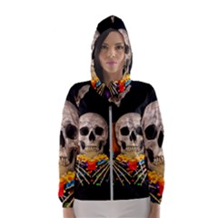 Halloween Candy Keeper Hooded Wind Breaker (women)