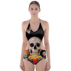 Halloween Candy Keeper Cut Out One Piece Swimsuit