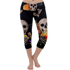 Halloween Candy Keeper Capri Yoga Leggings