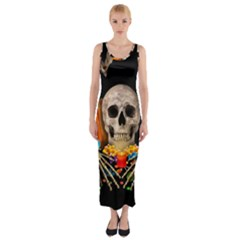 Halloween Candy Keeper Fitted Maxi Dress