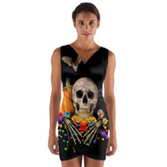 Halloween Candy Keeper Wrap Front Bodycon Dress