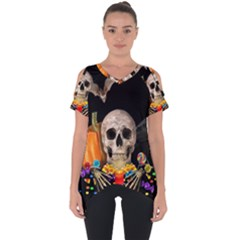 Halloween Candy Keeper Cut Out Side Drop Tee