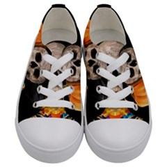 Halloween Candy Keeper Kids  Low Top Canvas Sneakers