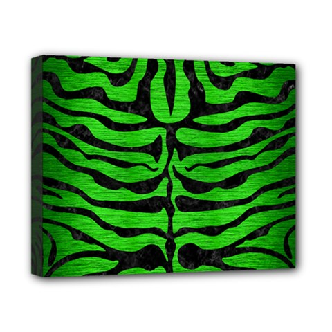 Skin2 Black Marble & Green Brushed Metal (r) Canvas 10  X 8