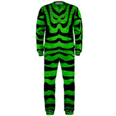 Skin2 Black Marble & Green Brushed Metal (r) Onepiece Jumpsuit (men)