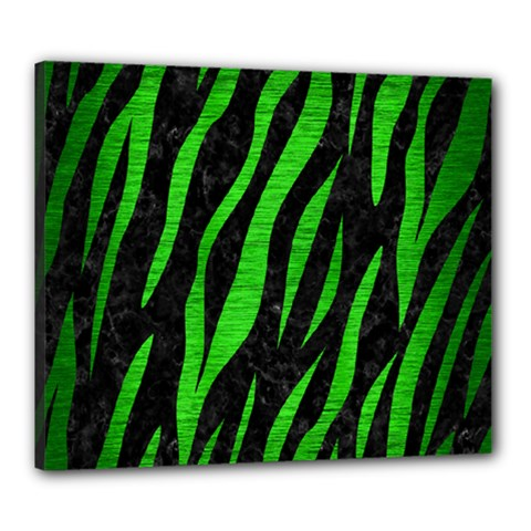 Skin3 Black Marble & Green Brushed Metal Canvas 24  X 20