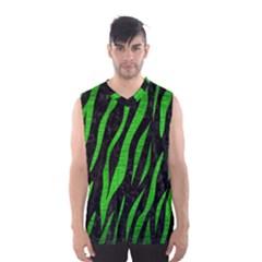 Skin3 Black Marble & Green Brushed Metal Men s Basketball Tank Top
