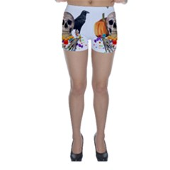Halloween Candy Keeper Skinny Shorts