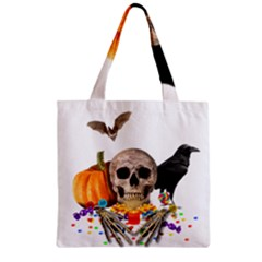 Halloween Candy Keeper Zipper Grocery Tote Bag