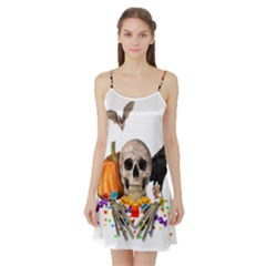 Halloween Candy Keeper Satin Night Slip