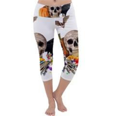 Halloween Candy Keeper Capri Yoga Leggings