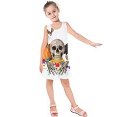 Halloween Candy Keeper Kids  Sleeveless Dress
