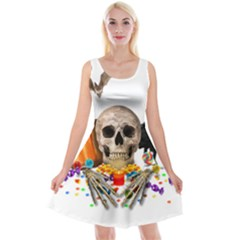 Halloween Candy Keeper Reversible Velvet Sleeveless Dress