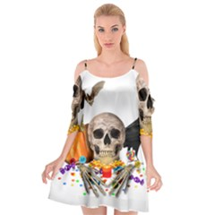 Halloween Candy Keeper Cutout Spaghetti Strap Chiffon Dress