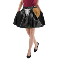 Spiritual Goat A Line Pocket Skirt