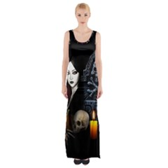 Vampires Night  Maxi Thigh Split Dress