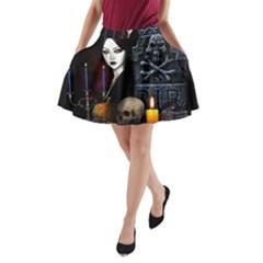 Vampires Night  A Line Pocket Skirt