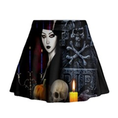 Vampires Night  Mini Flare Skirt